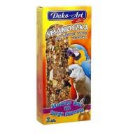 DAKO - ART Tyčinky pre veľkých papagájov - medové 2ks
