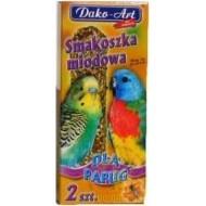 DAKO - ART Tyčinky pre andulky a malé papagáje -med 2ks