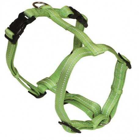 Postroj nylonový reflexný zelený