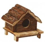 Drevený domček Love Hut 15x15x15cm