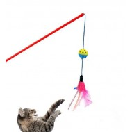 Hračka lopta s perím na paličke 50cm