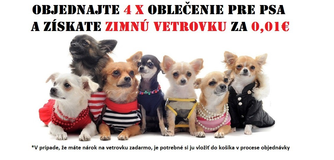 Kvalitné oblečenie pre psov